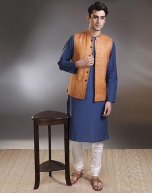 Tussar Nehru Jacket