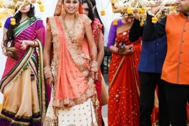 Palki style bridal flower canopy