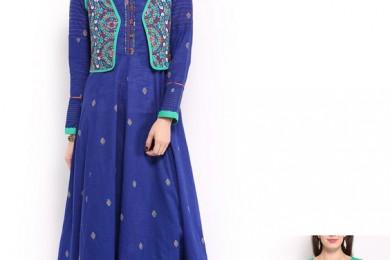 Reversable waiscoats with Anarkali kurta