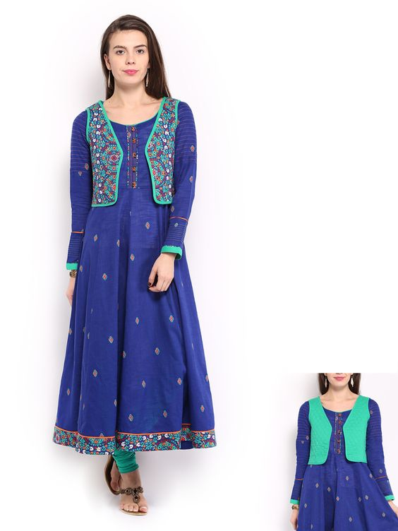Reversable waiscoats with Anarkali kurta