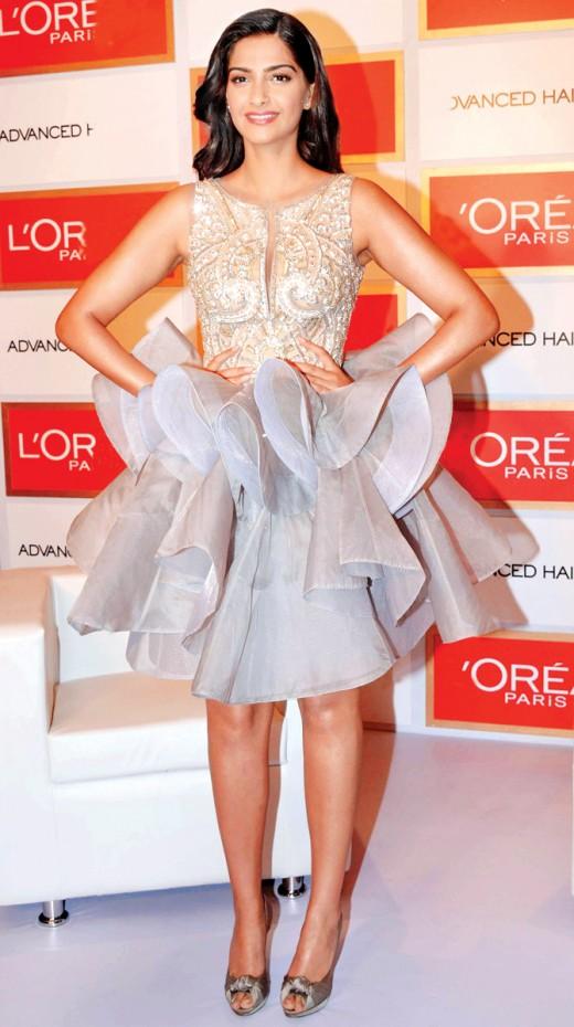 Sonam Kapoor in Frill skirt