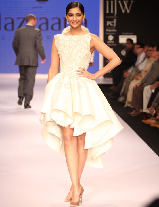 Sonam kapoor in Frill dress
