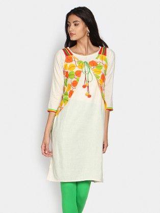 V cut waistcoat with kurta