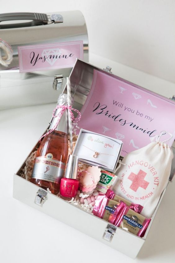Assorted Personal Care Products for bridesmaid