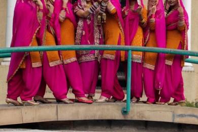 Punjabi bridesmaid