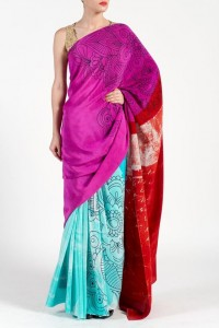 Color Blocked saree