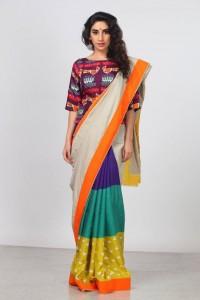 Color Blocked saree