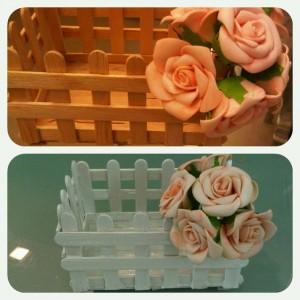 Ice cream sticks basket