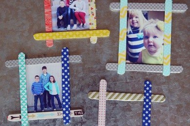 Ice cream sticks photo frame