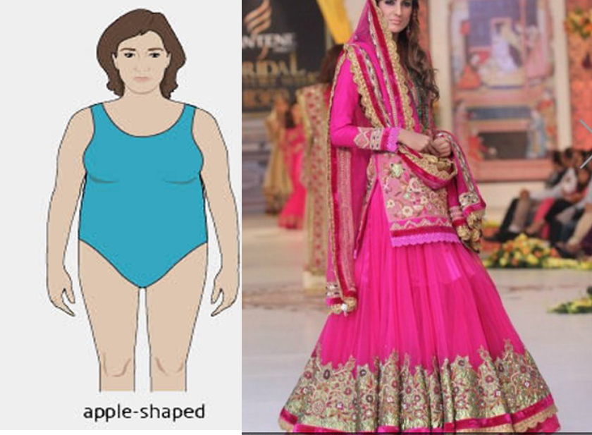 Lehnga for Apple Shaped Body