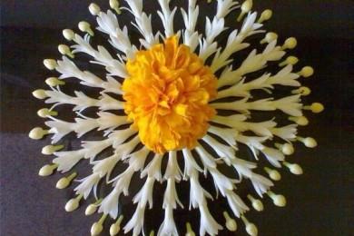 Floral rangoli Designs