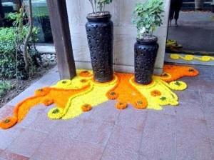 Floral rangoli Designs-