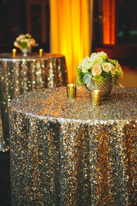 Glitter Wedding Decor