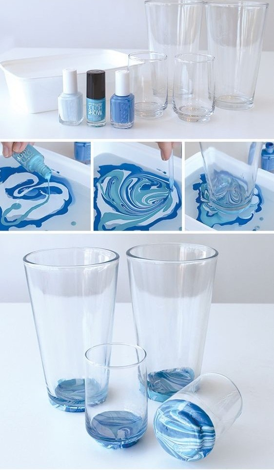 Marbled Glassware