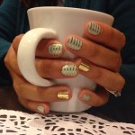 Simple Nail Art Ideas With Metallic Foil