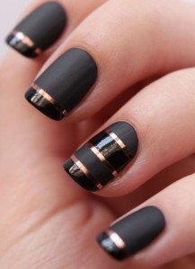 Metallic Nail Art-