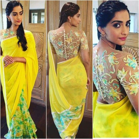 Sonam Kapoor Hairstyle Inspiration for Sarees