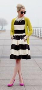 Styling striped dress