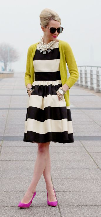 Styling striped dress