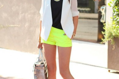 styling with neon shorts