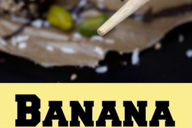 Banana Chocolate peanut butter sushi