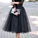 Look Your Best In Black Tulle Skirt