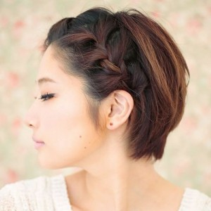 Braided Pixie hairstyle