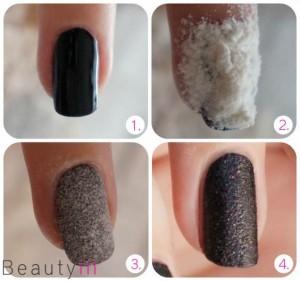 Liquid Sand nail paint