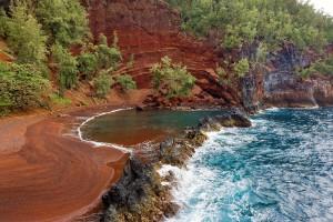 Red sand beach, Hawaii