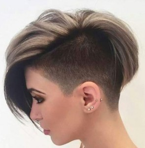 Shaved Pixie style