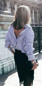 The backward shirt