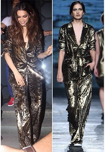 Deepika padukone in metallic ensemble