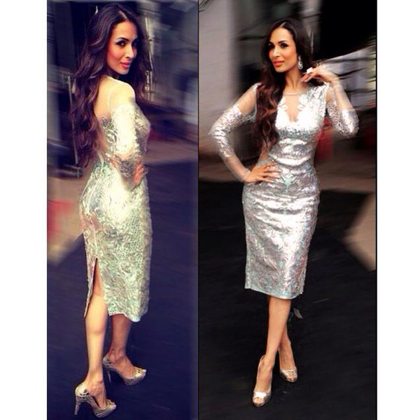 Mallaika Arora in metallic ensemble