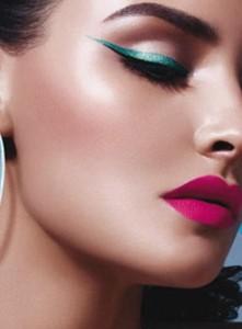 Winged style eyeliner