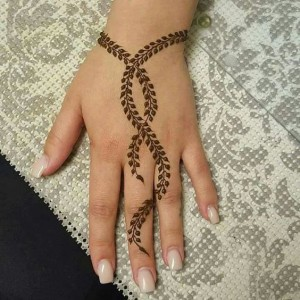 Leaf Print Mehndi designs