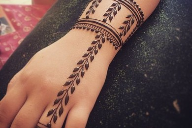 Leaf Inspired Simple Mehndi Designs