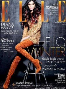 Diana Penty in thigh high boots