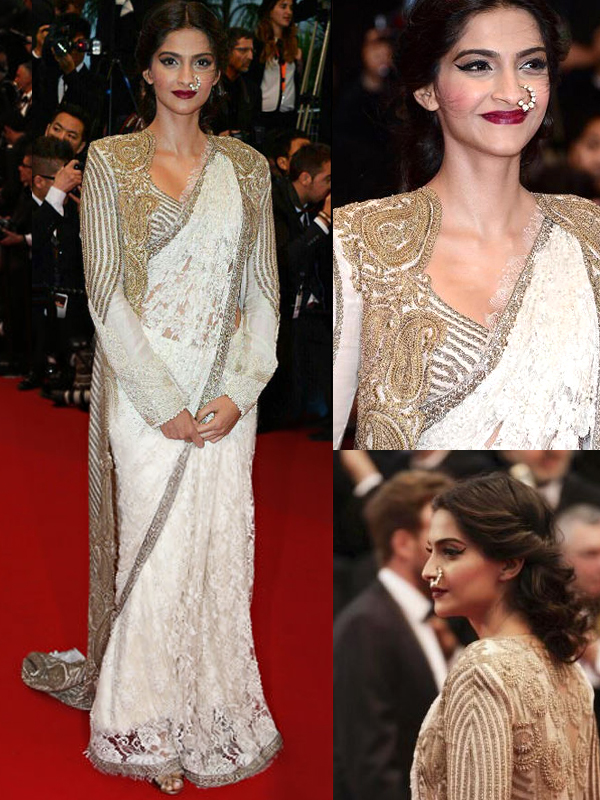 Sonam Kapoor In white Saree