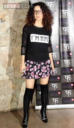 kangana Ranaut in high boots