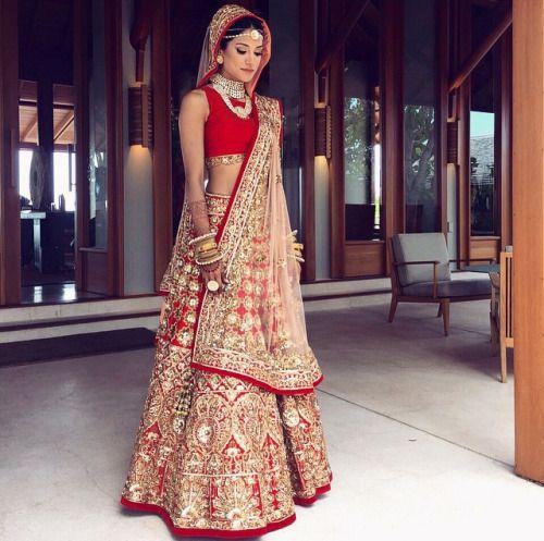 Red Bridal Lehnga