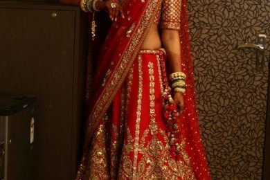 How To Wear Red Bridal Lehngas