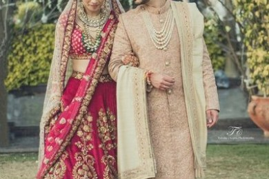 Bride and Groom matching ensembles