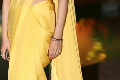 Fringed sarees