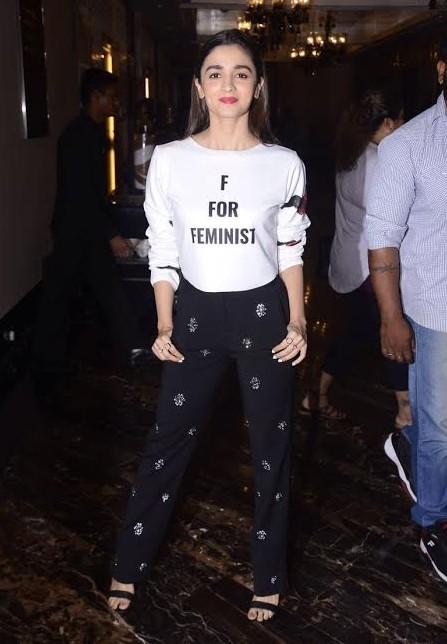 Alia Bhatt in Feminist T-shirt
