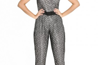 Asymmetric Shoulder Lace Jumpsuit