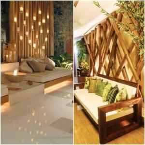 Bamboo wall decorations