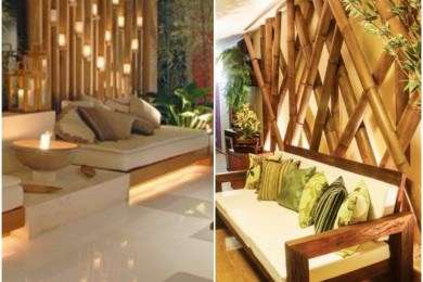 Bamboo wall decorations
