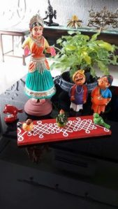 Colorful Indian statues for homes