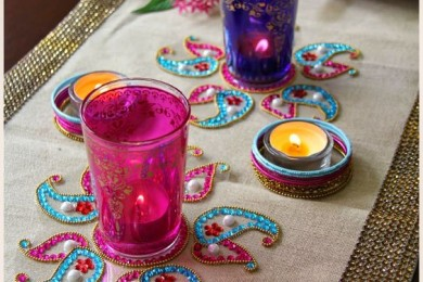 Colorful glasses for holi
