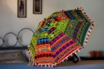 Embroidered Umbrella for Holi decoration